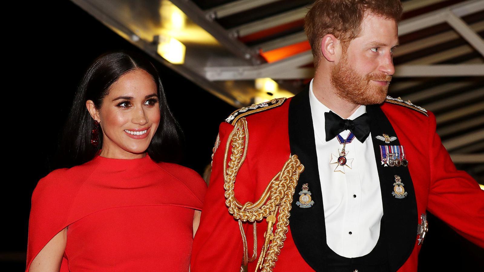 Meghan Markle i el príncep Enric, en una imatge d'arxiu del passat 7 de març, en el darrer acte oficial de la parella com a membres de ple dret de la família reial