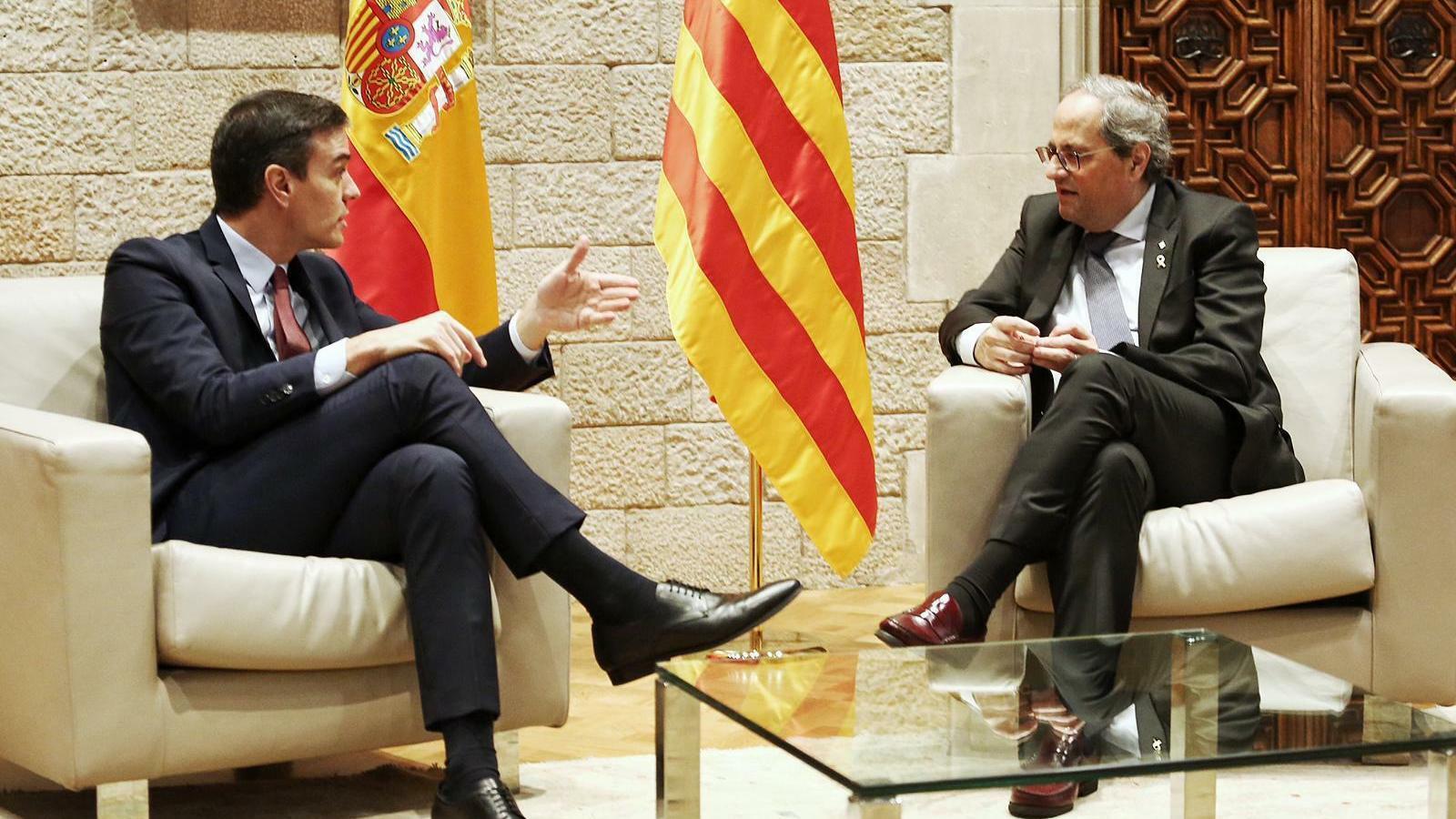 Sánchez i Torra donen una oportunitat al diàleg tot i la distància