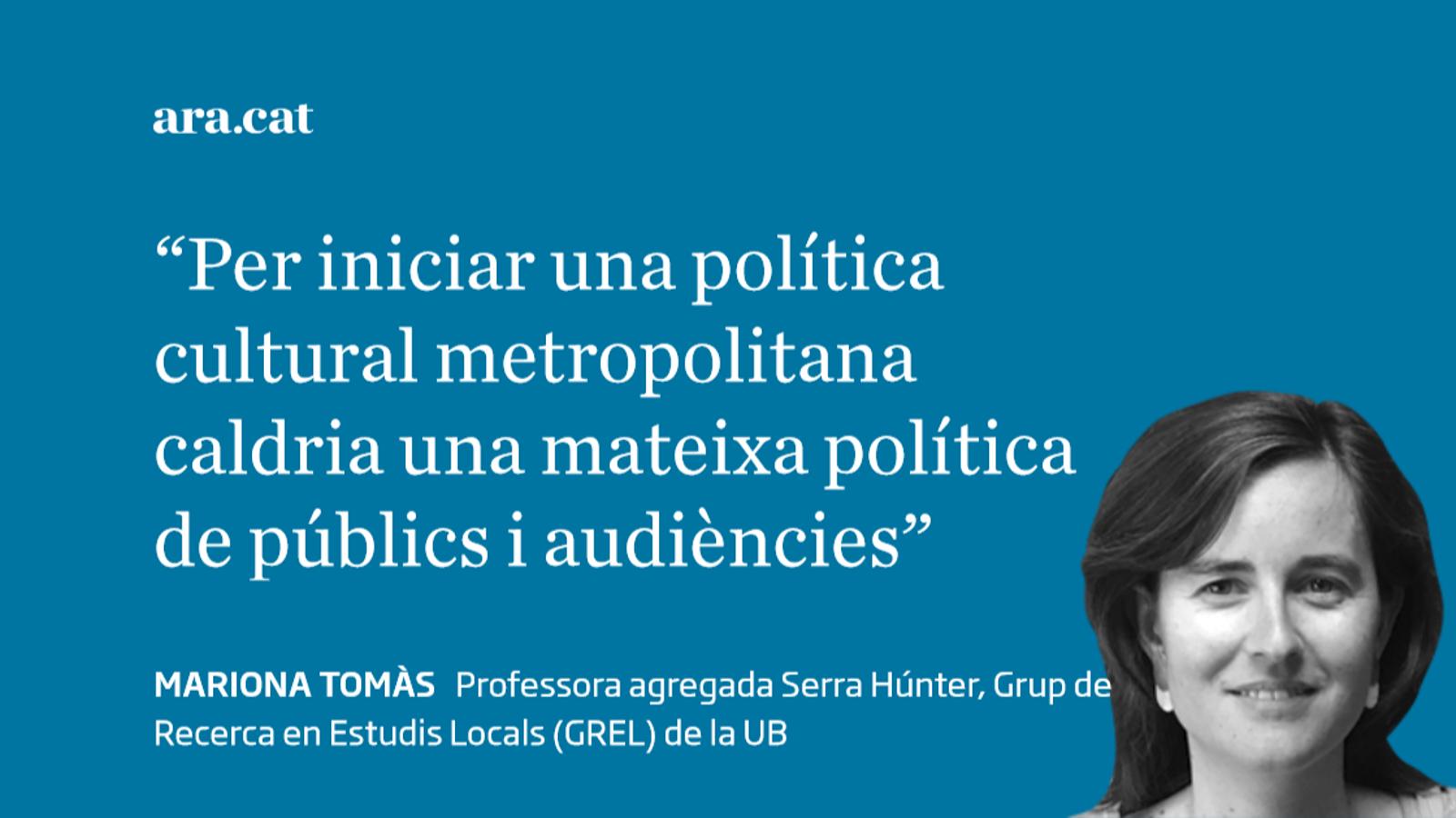 Política cultural i cultura metropolitanes
