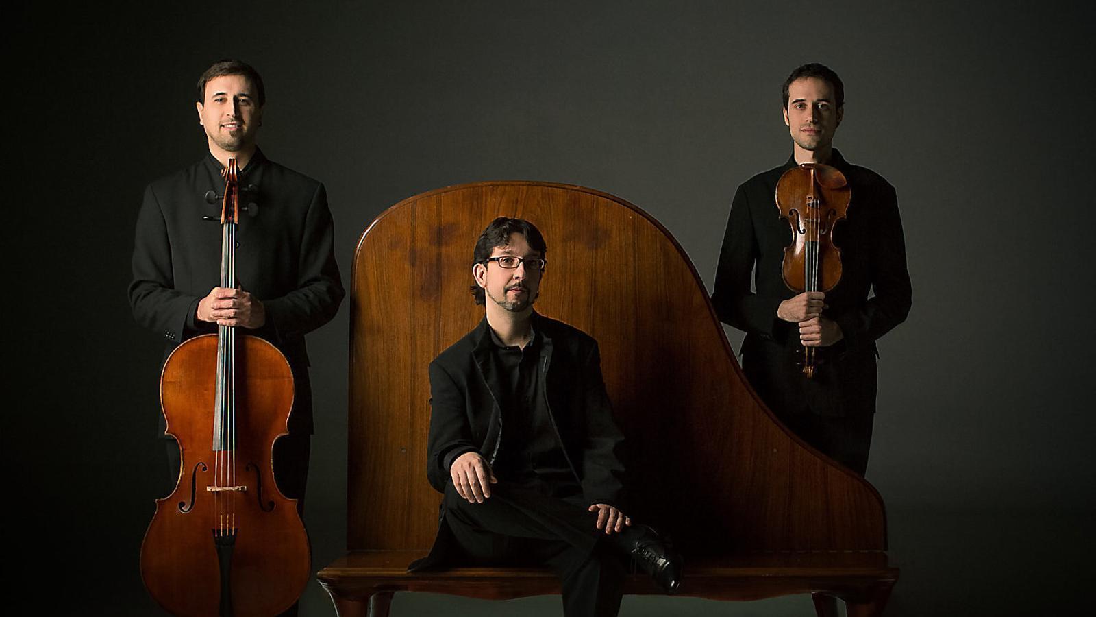 El tres components del Trio Pedrell: Ferran Bardolet, Jordi Humet i Christian Torres. / FICTA