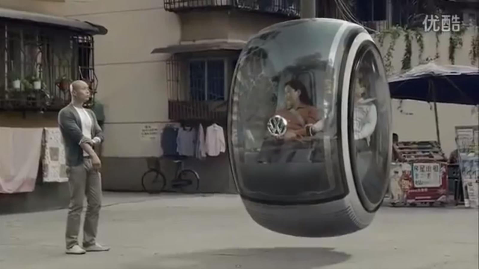 El concepte de cotxe volador de Volskswagen