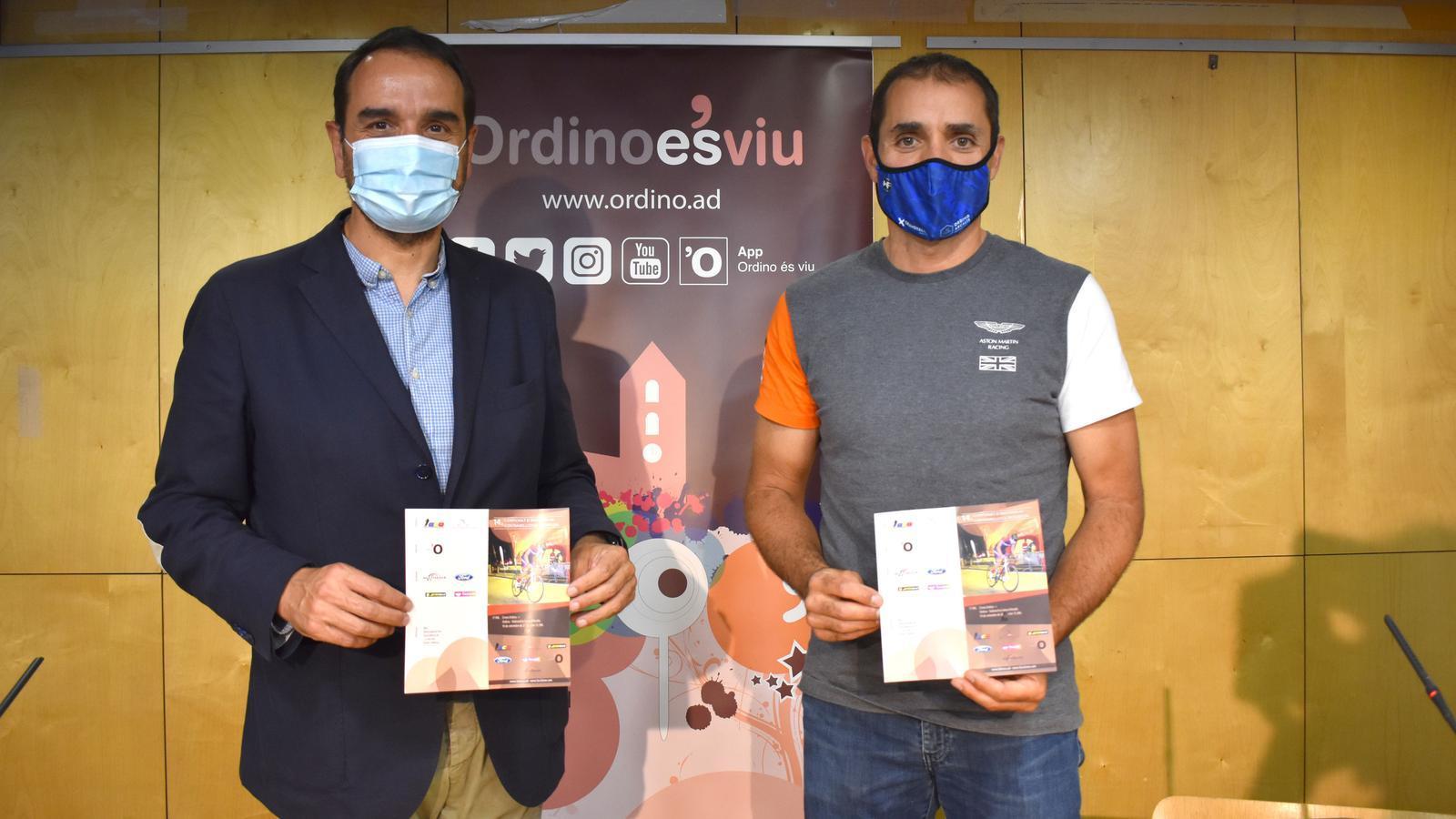Serracanta i Iglesias, aquest dimarts durant la presentació de la prova ciclista ordinenca