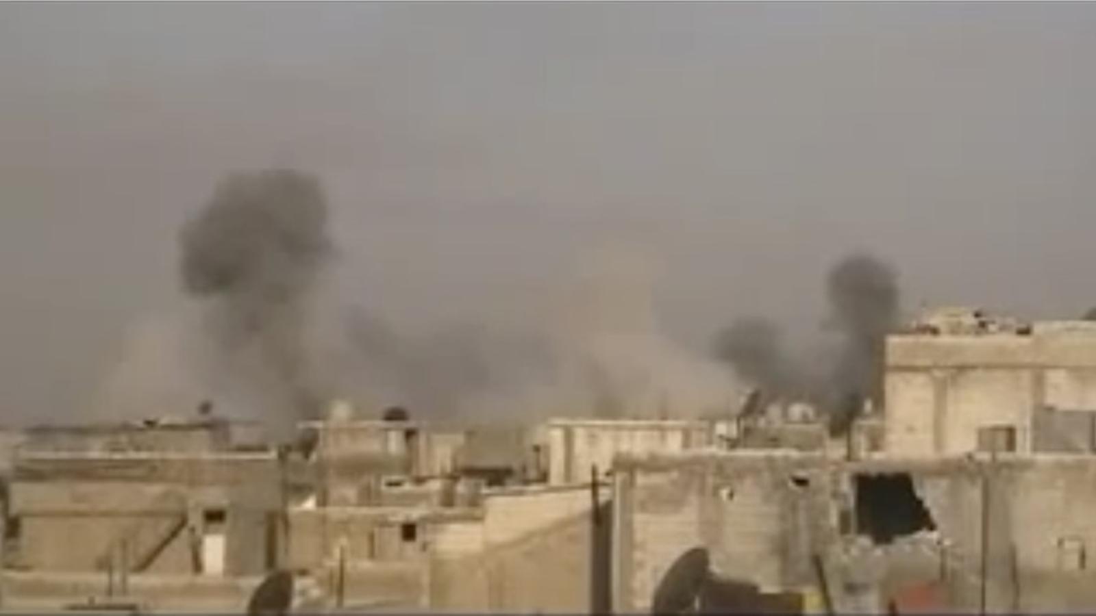Bombardeig del règim sirià sobre el barri de Baba Amro a Homs
