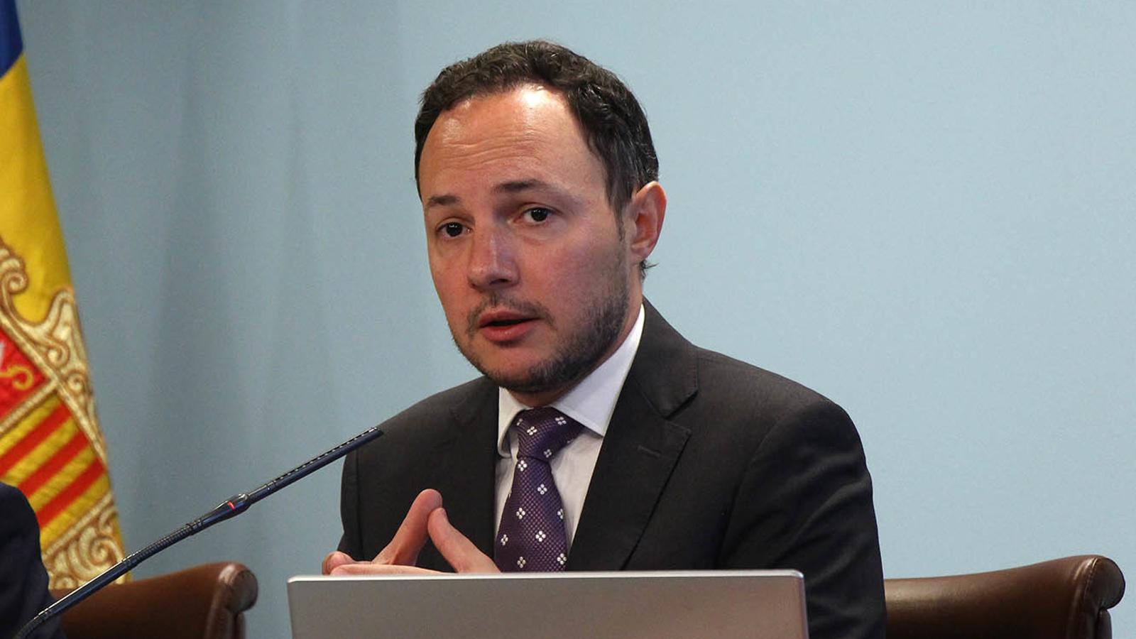 El ministre d'Afers Socials, Justícia i Interior, Xavier Espot, en una imatge d'arxiu. / ARXIU ANA