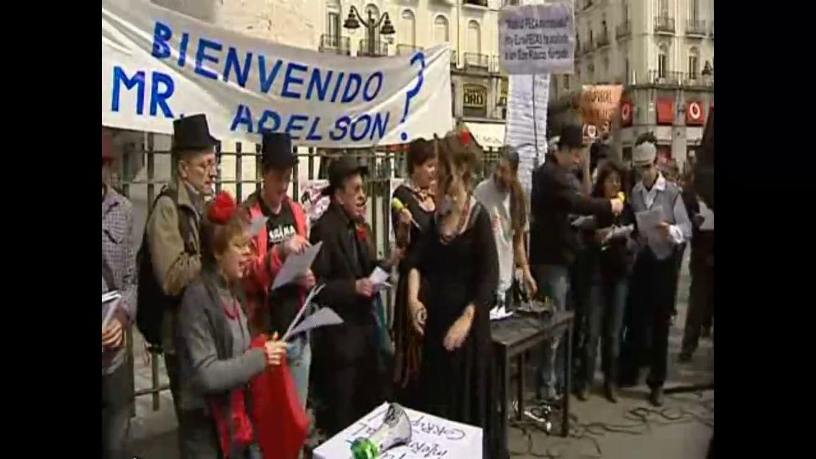 Manifestació en contra la construcció de l'Eurovegas a Barcelona o Madrid