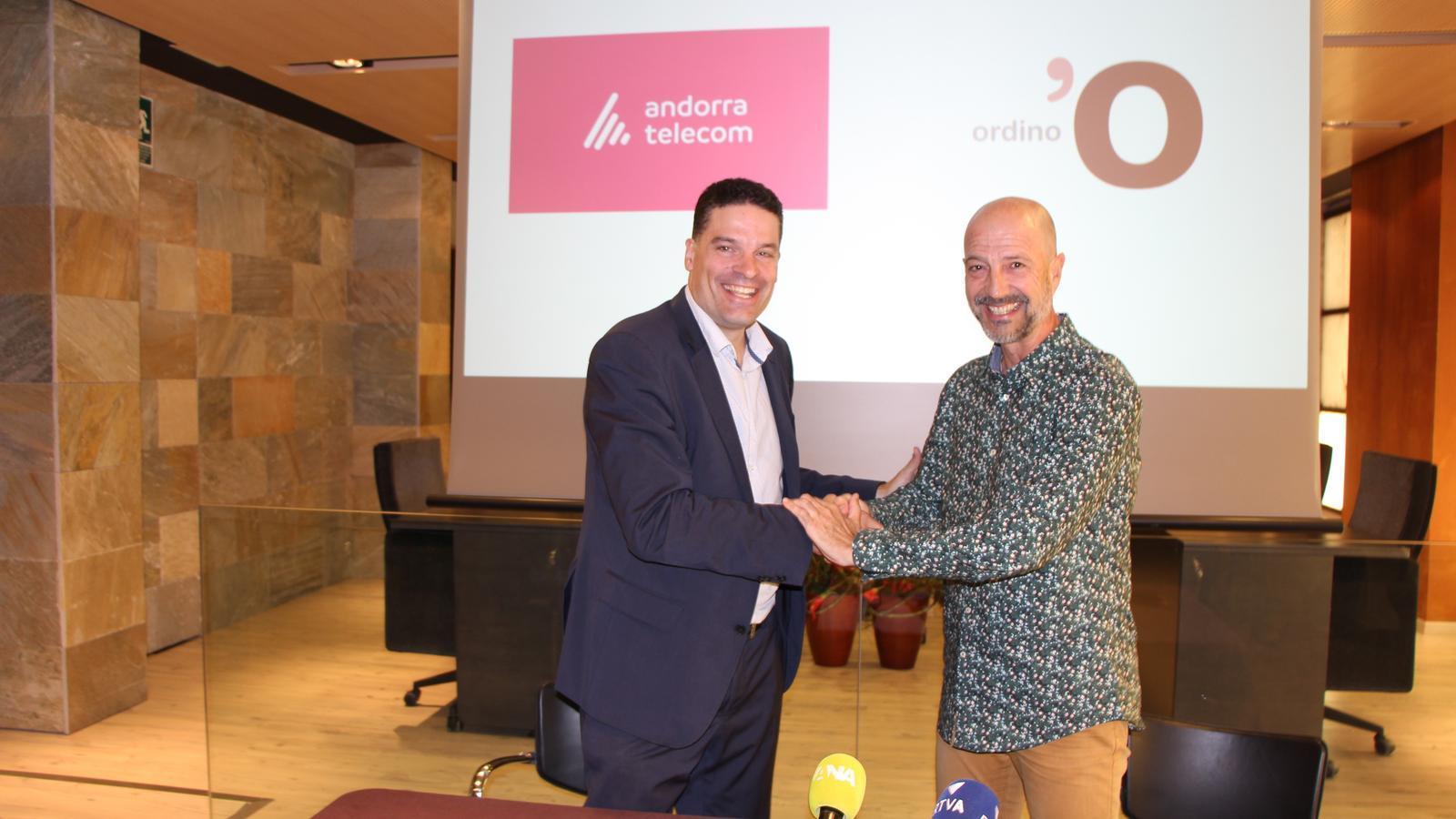 Presentació del projecte 'Ordino Wi-fi 2.0' entre Andorra Telecom i el comú. / A.S.