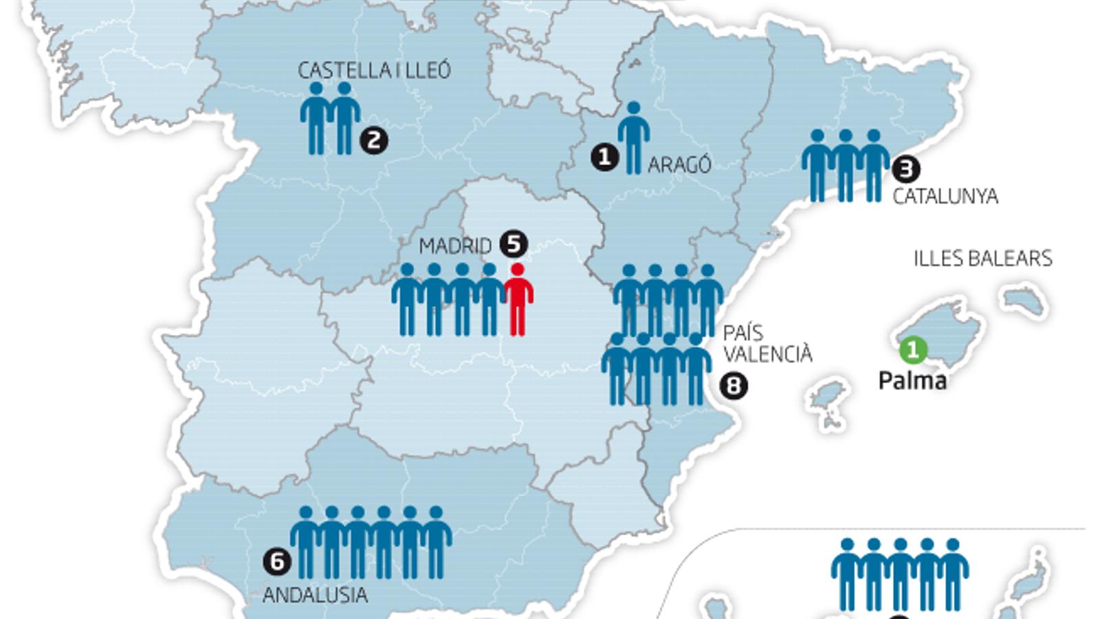 Infografia dels casos de coronavirus a Espanya