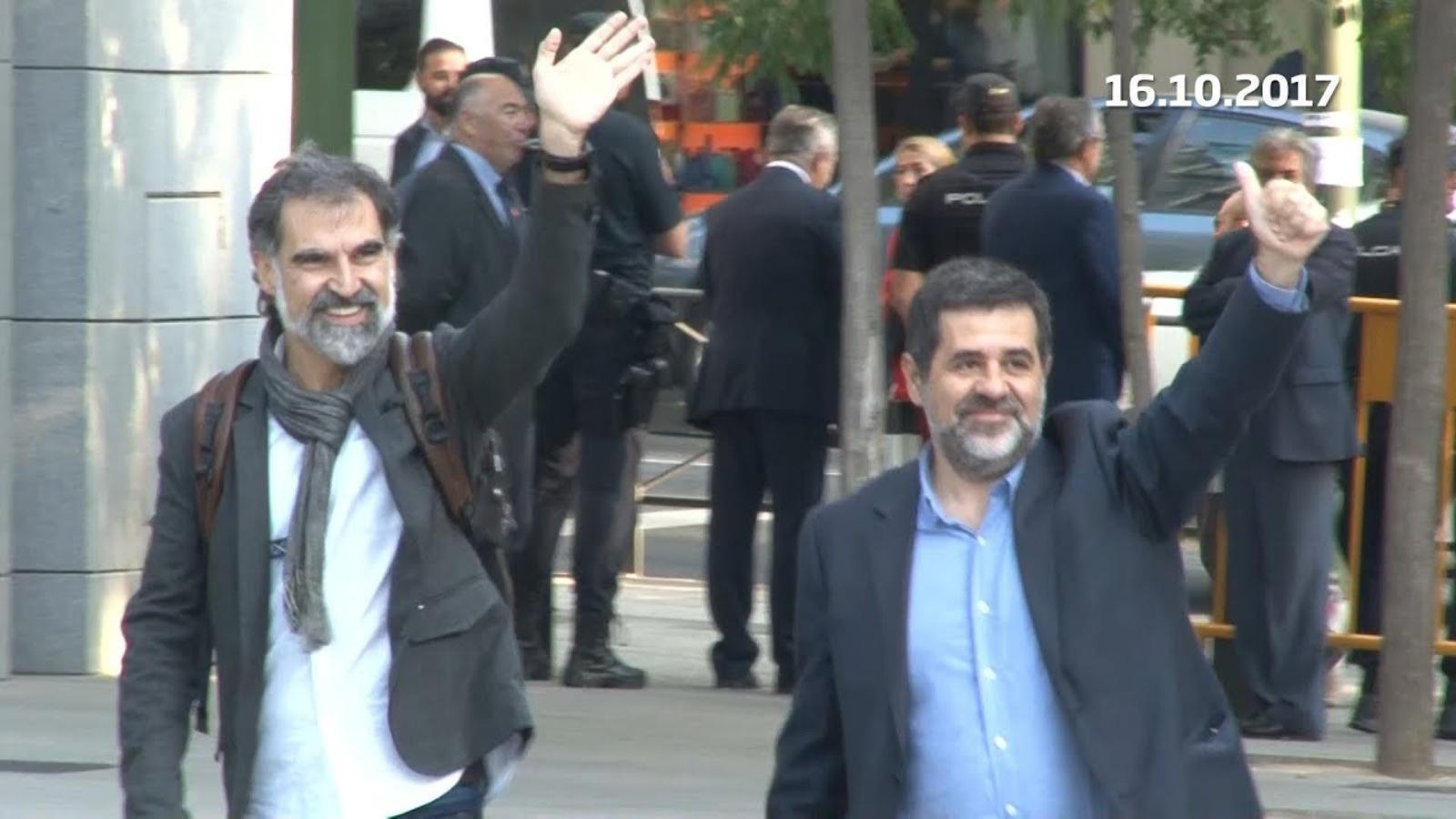 Els Jordis declaren a l'Audiència Nacional i ingressen a la presó de Soto del Real