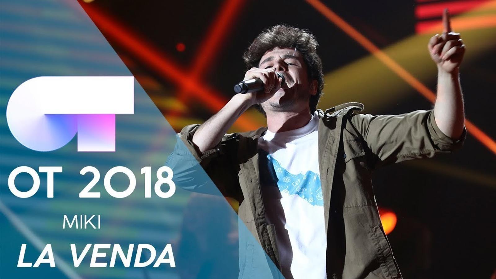 Miki cantarà la cançó 'La venda' a Eurovisió 2019