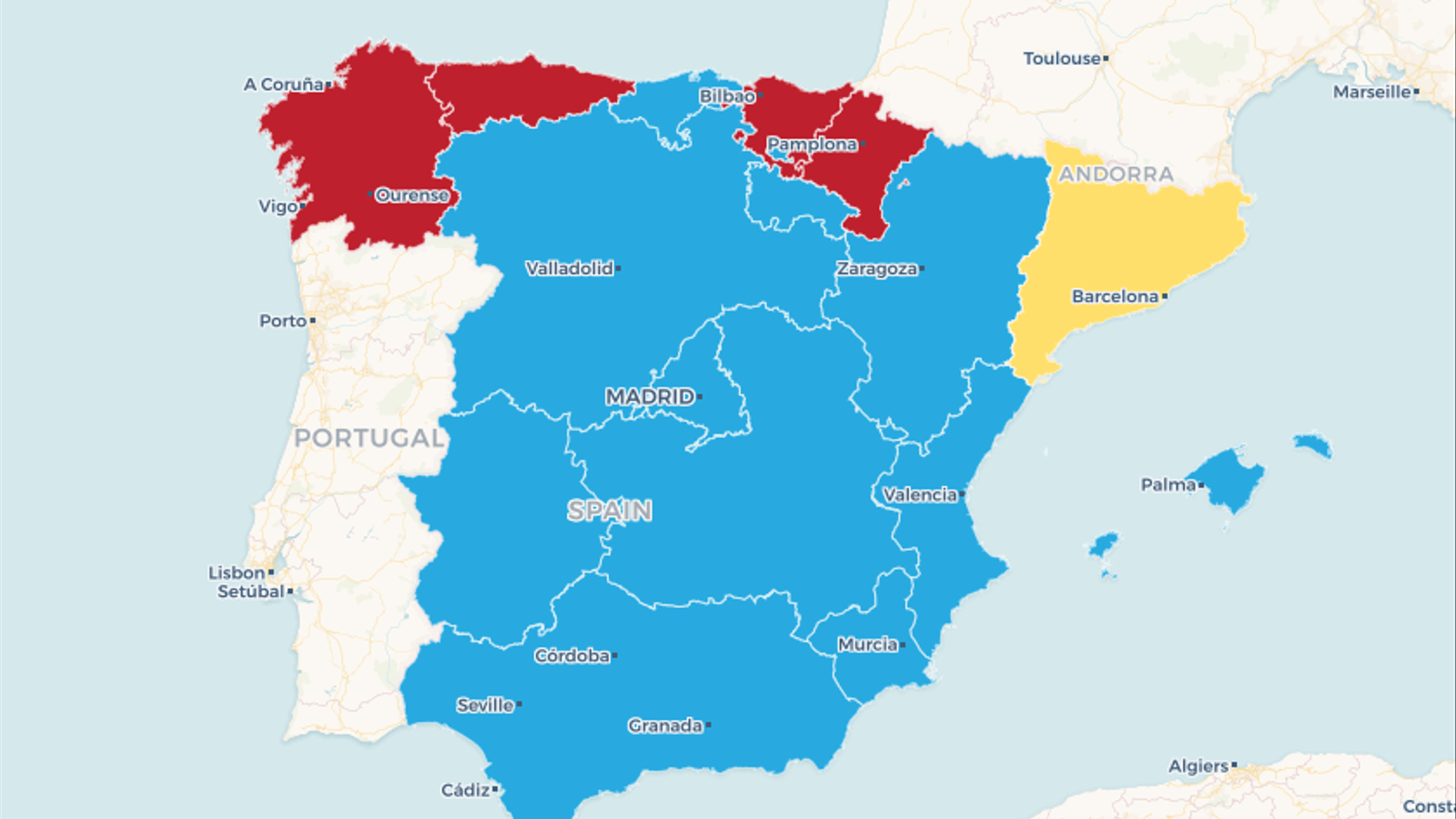 Mapa Interactiu Provincies Espanya.Mapes Interactius Els Resultats Dels Grans Blocs Per Comunitats I Per Provincies