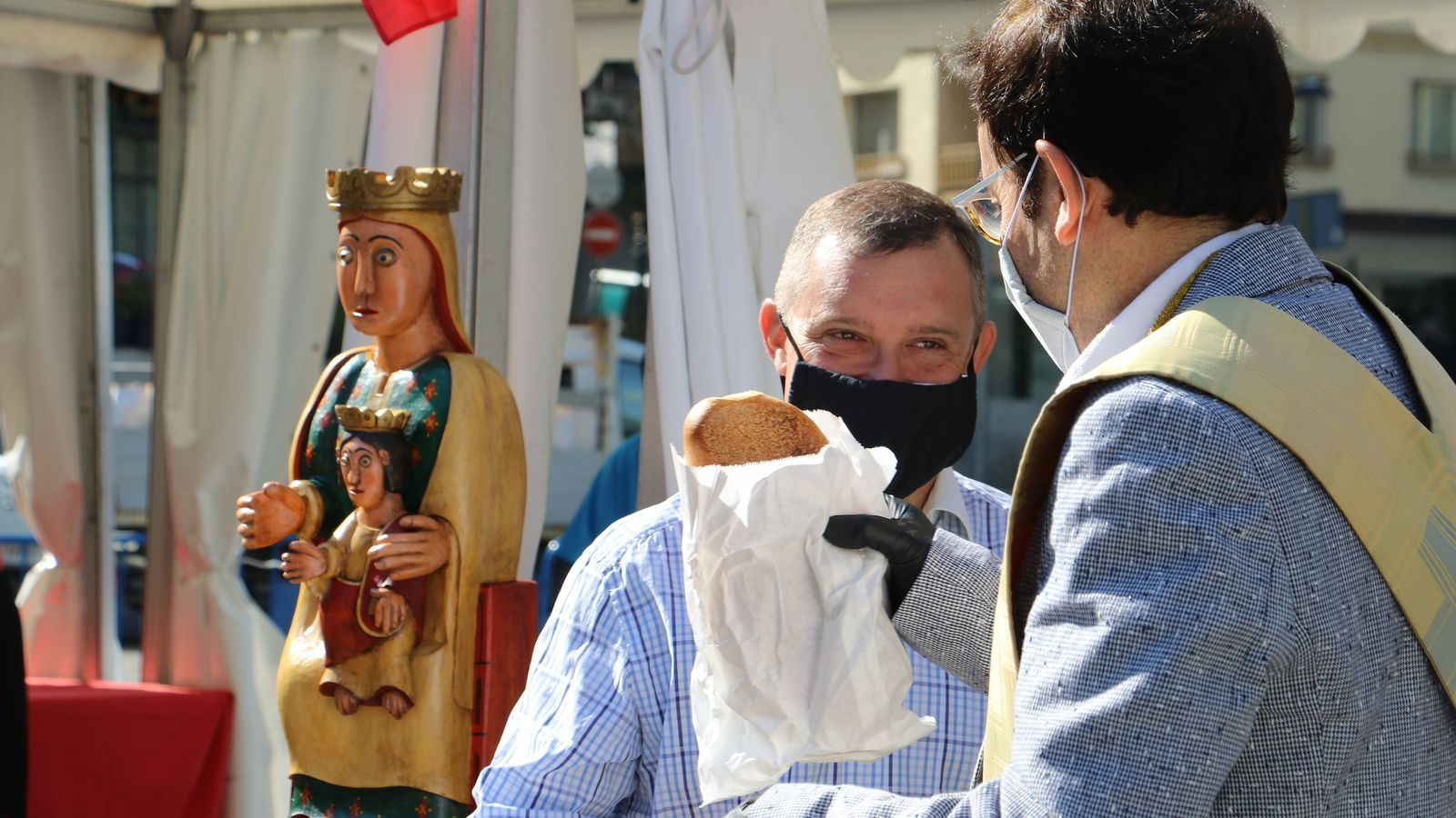 El cònsol major de Sant Julià, Josep Majoral, ha fer referència a Naturlàndia durant la diada de Canòlich. / E.C. (ANA)