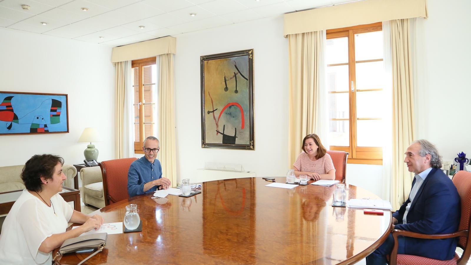 Reunió de representants de FAPA amb el conseller d'Educació i la presidenta Armengol