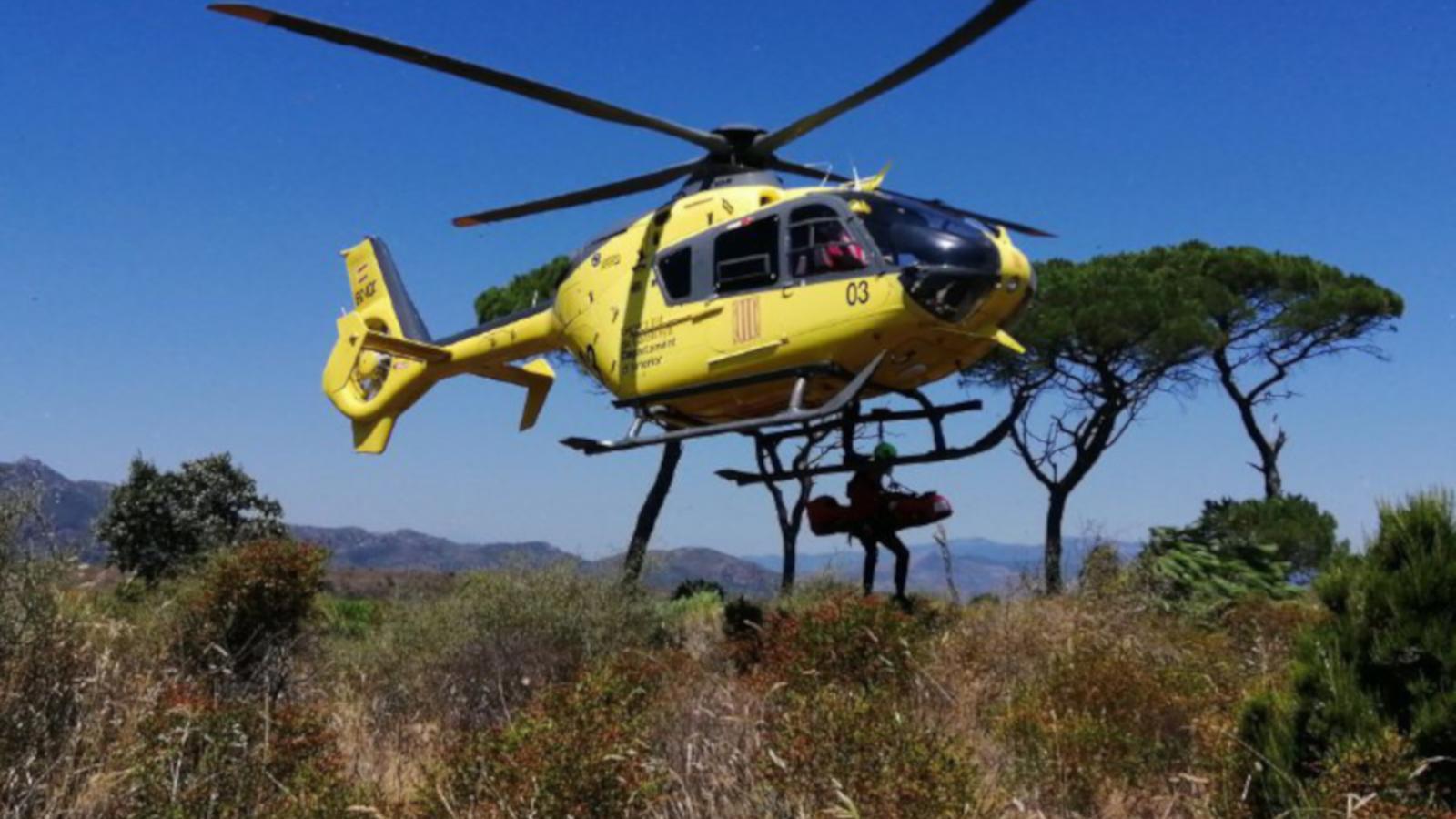 Una de les actuacions dels Bombers de la Generalitat a Port de la Selva