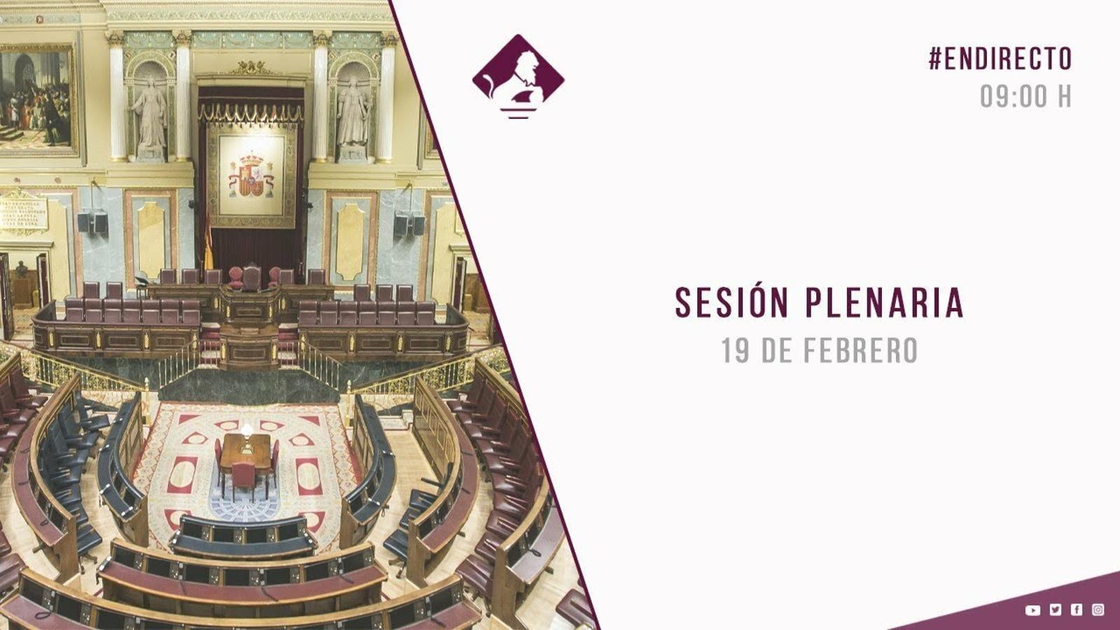 EN DIRECTE: Sessió de control al Congrés