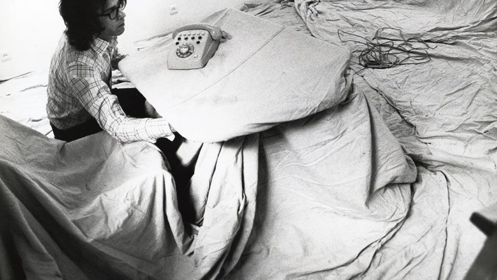 Christo a la galeria Joan Prats el 1977
