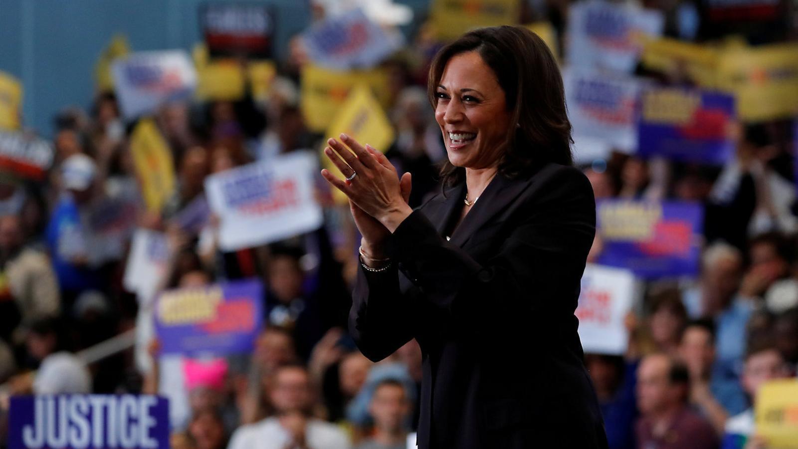 La senadora Kamala Harris en un míting electoral a Los Angeles celebrat al maig.