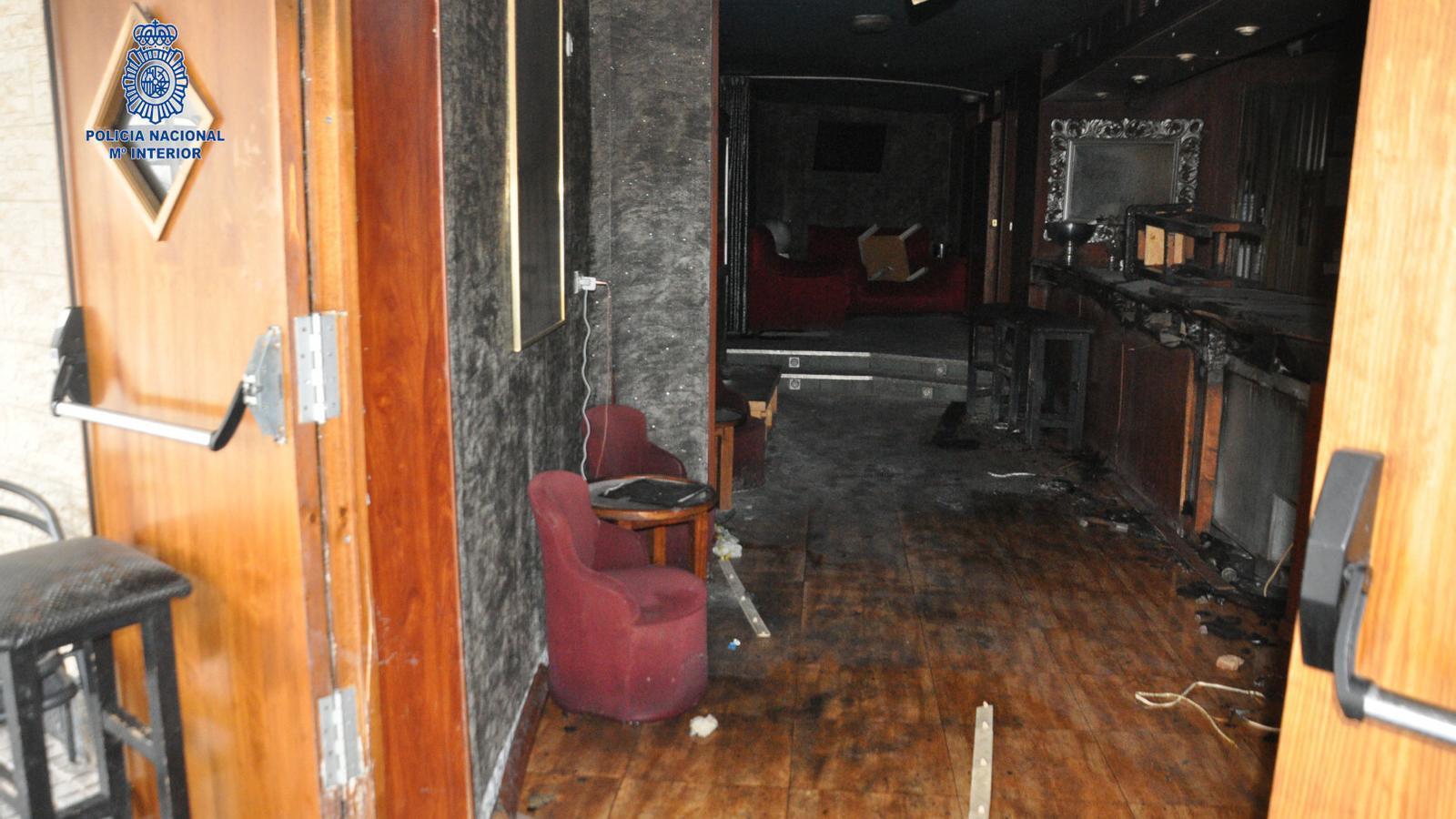 Imatges del local posteriors a l'incendi