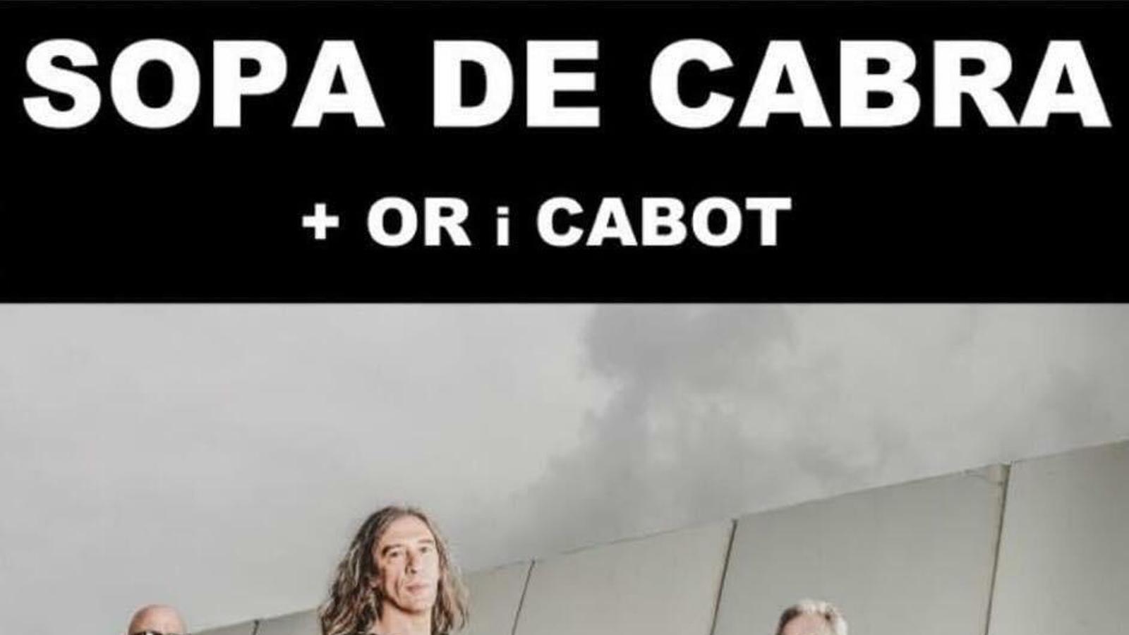Cartell anunciant el concert a Pollença.