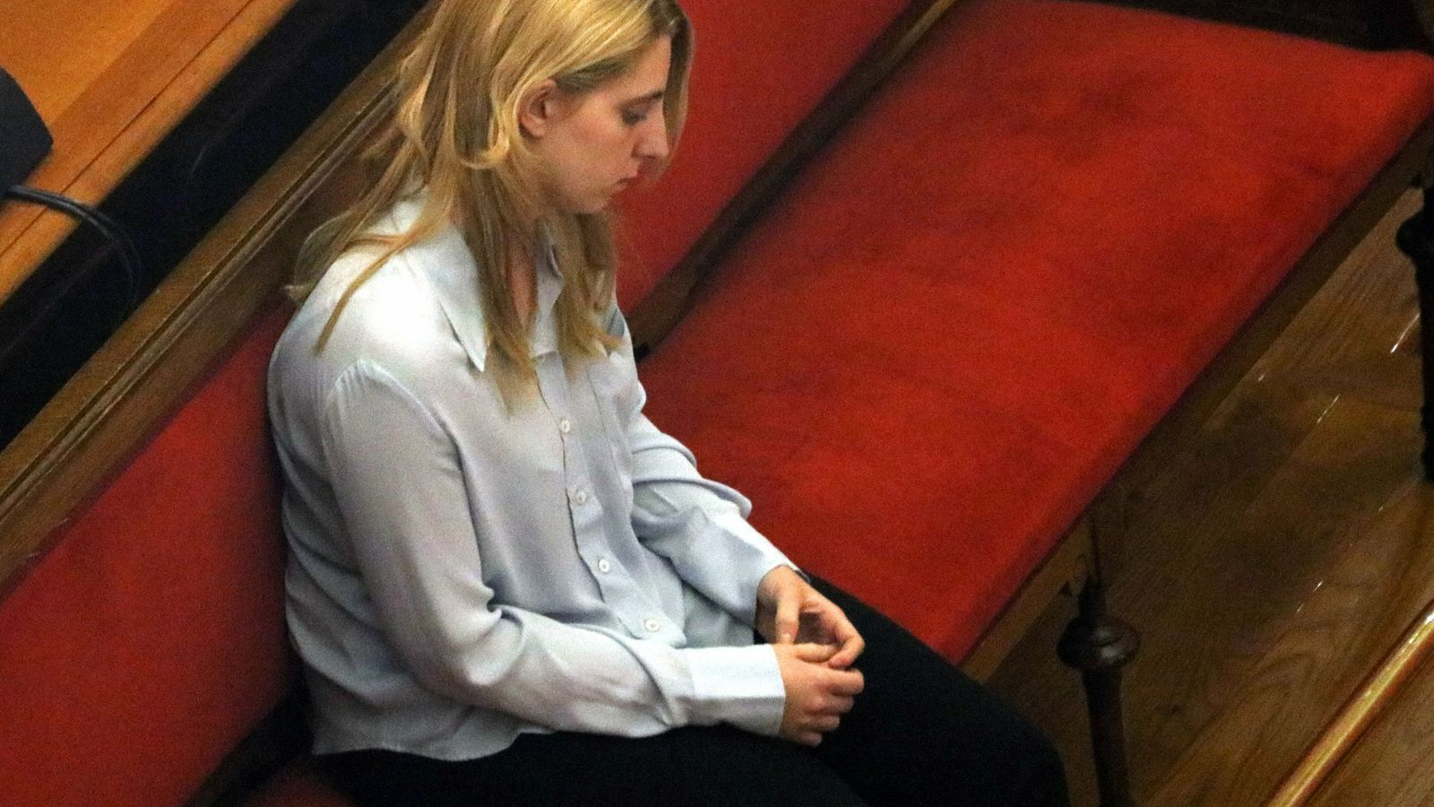 La jove Berta G. durant el judici / ACN