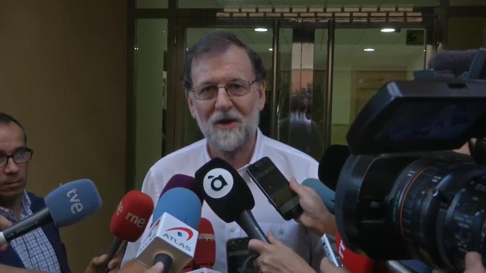 """Rajoy: """"Són els militants del PP els que han de triar democràticament qui volen que sigui el seu líder"""""""