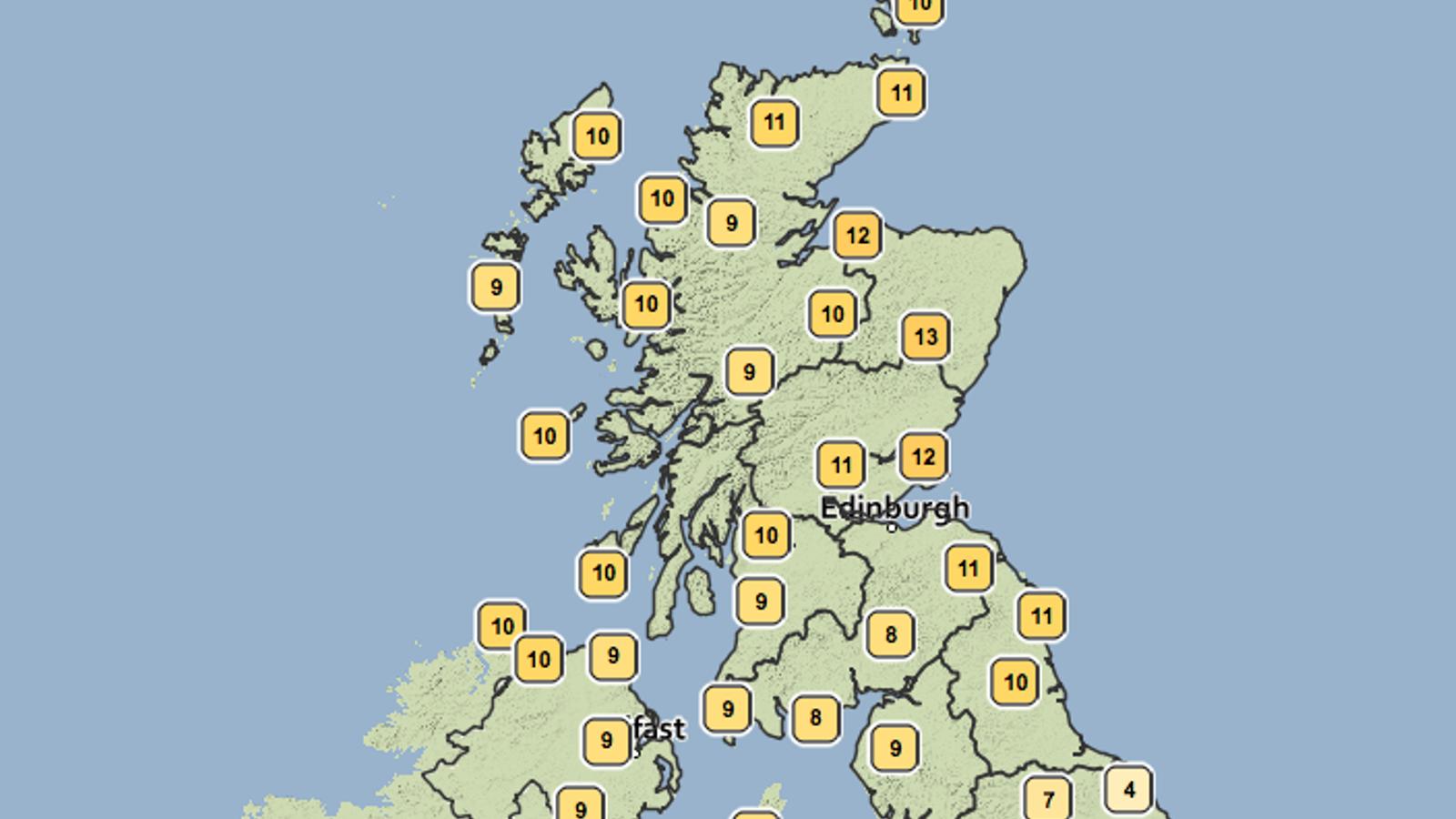 """La premsa escocesa anuncia """"temperatures més altes que a Barcelona"""""""