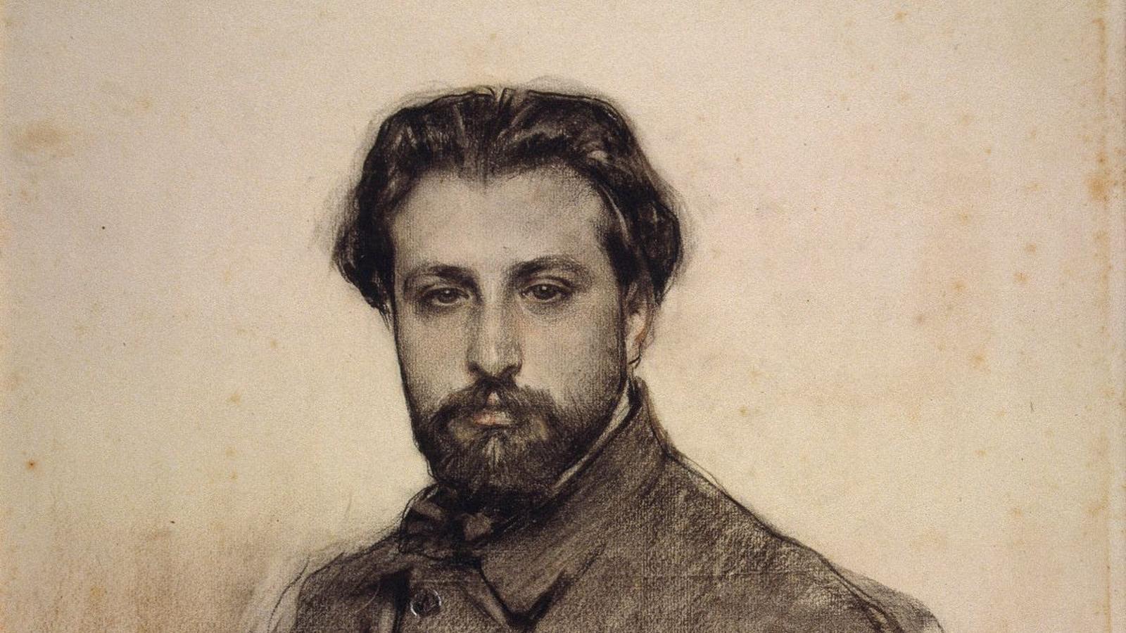 El violinista Joan Manén vist per Ramon Casas ( 1903)