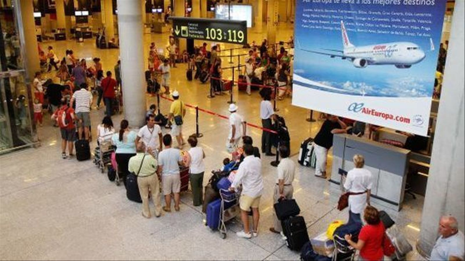 L'aeroport de Palma va rebre 839.000 usuaris durant el mes de gener.