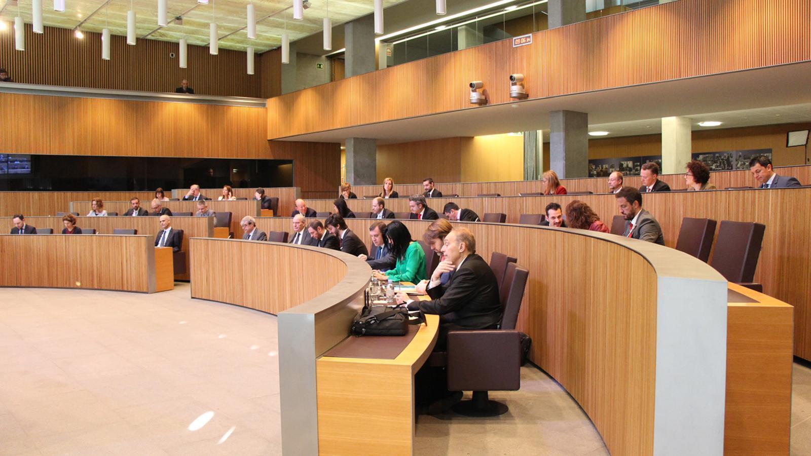 Un moment de la sessió de Consell General celebrada aquest dijous. / M. F. (ANA)