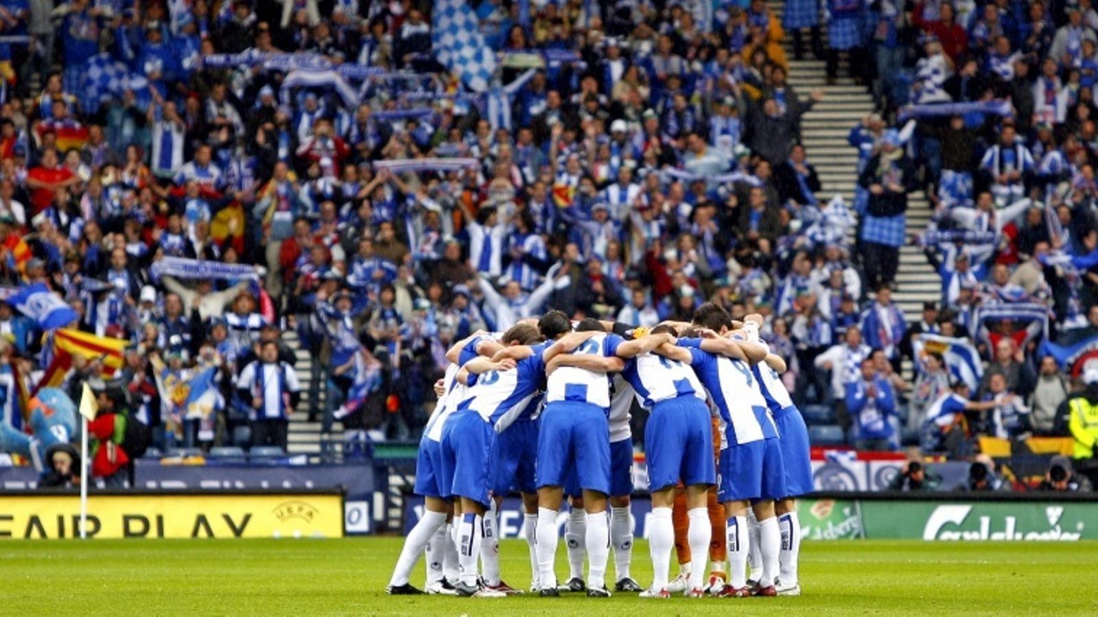 L'últim partit de l'Espanyol a Europa va ser la final de Glasgow del 2007