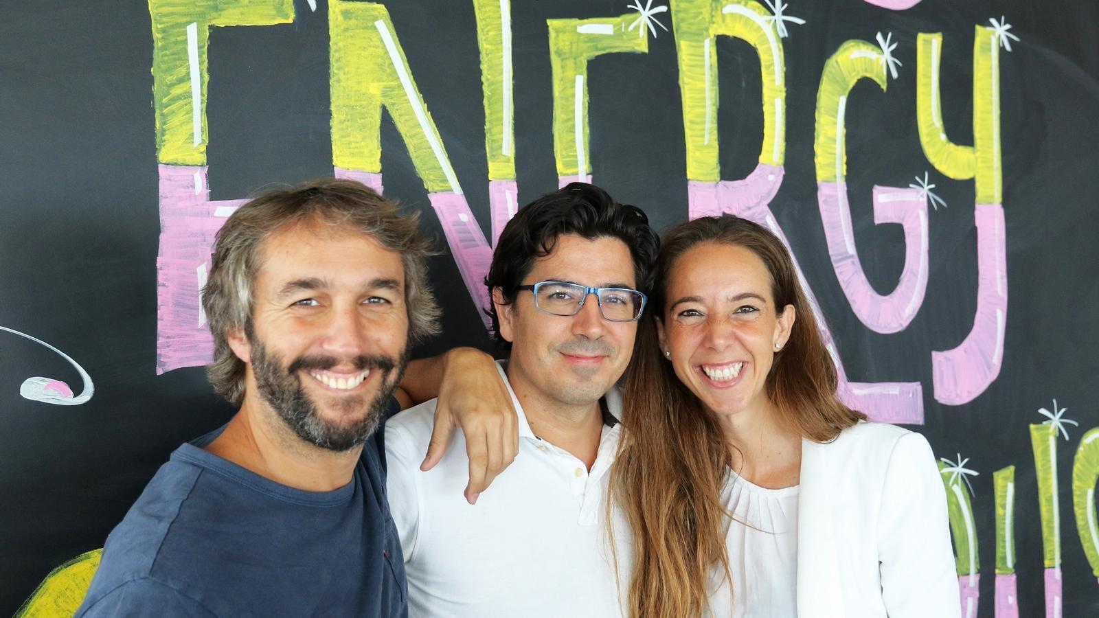 Oriol Vila, Ferran Nogué i Carlota Pi, fundadors d'Holaluz.