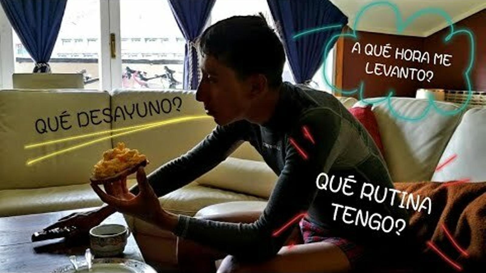 La rutina del ciclista Egan Bernal