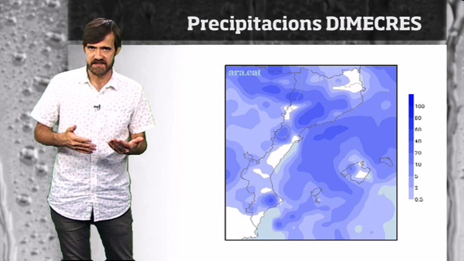La méteo en 1 minut: tongada de pluges de cara a dimecres