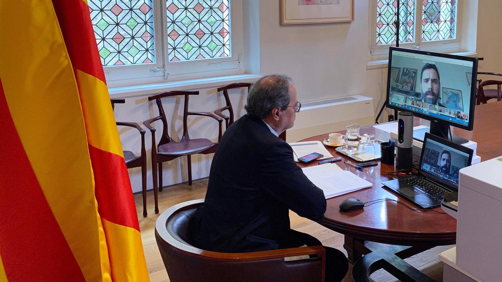 Torra avisa que el pic podria arribar a finals d'abril i 738 morts més a Espanya: les claus del vespre amb Antoni Bassas (25-03-2020)