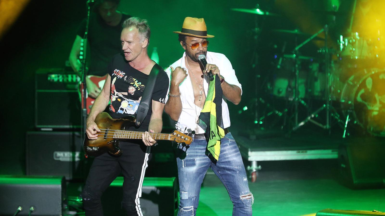 Sting i Shaggy ahir als Jardins de Cap Roig.
