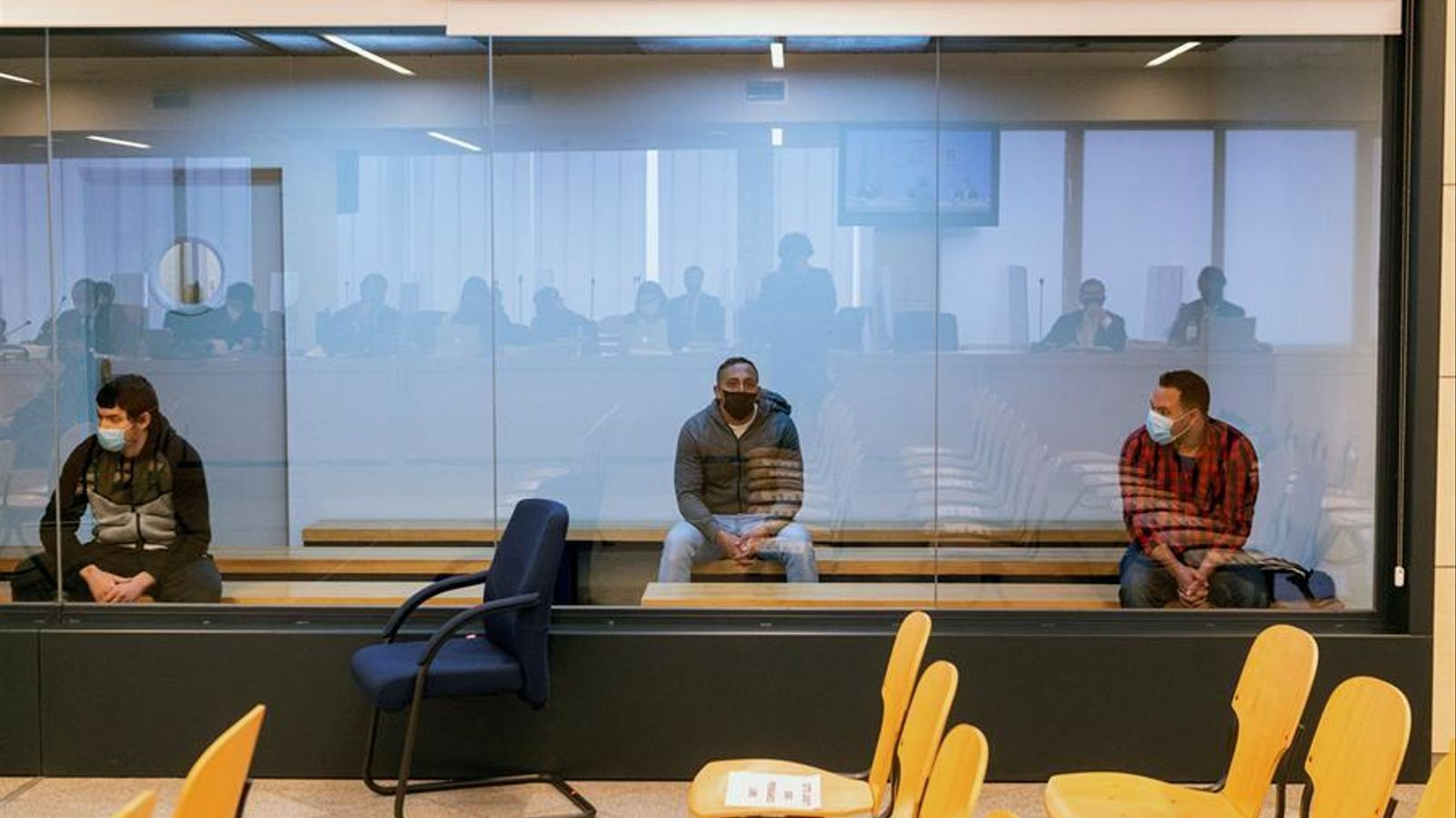 Mohammed Houli, Driss Oukabir i Said ben Iazza, acusats al judici pels atemptats del 17-A