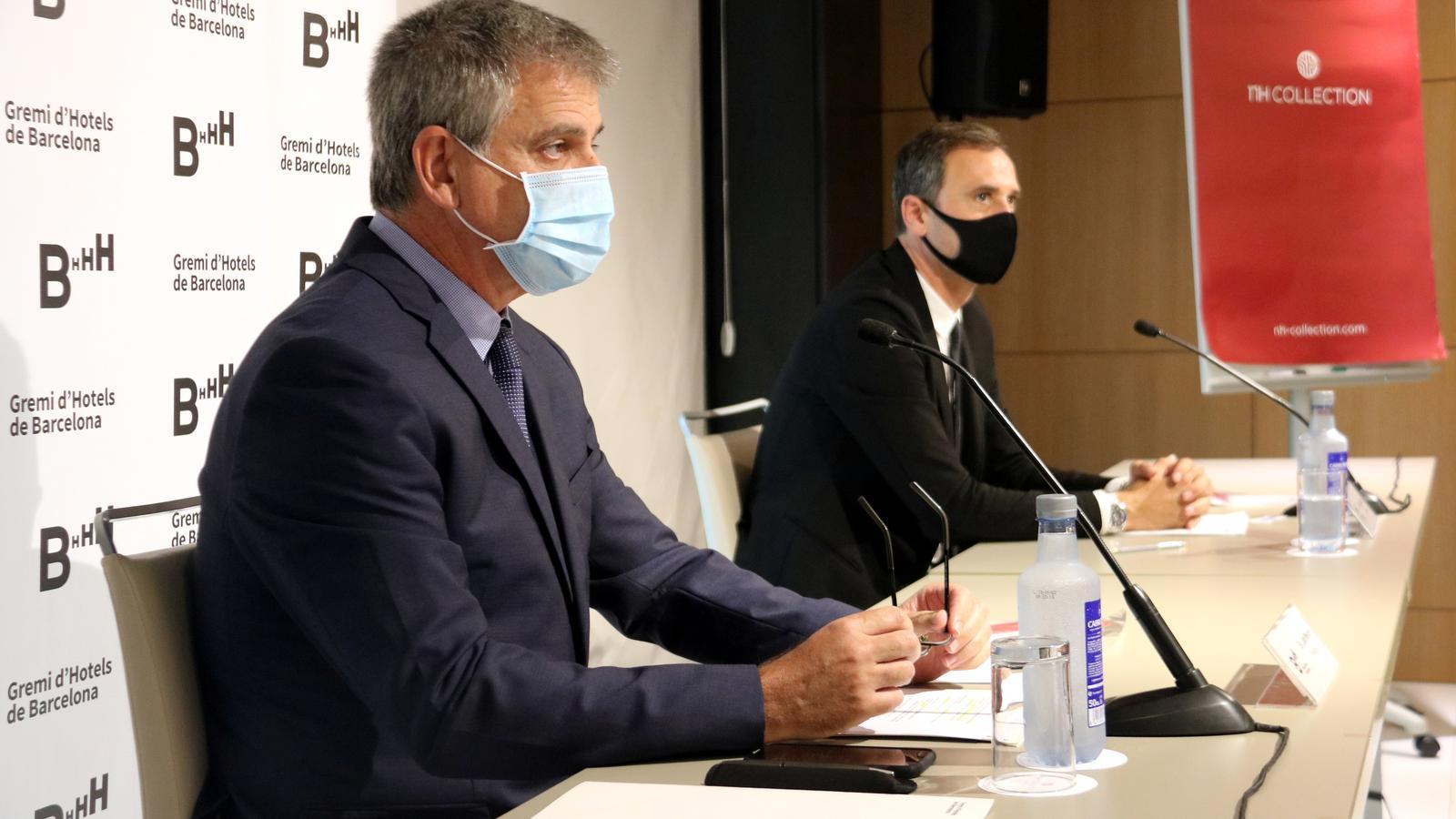 El president del Gremi, Jordi Mestre, i el director general, Manel Casals.