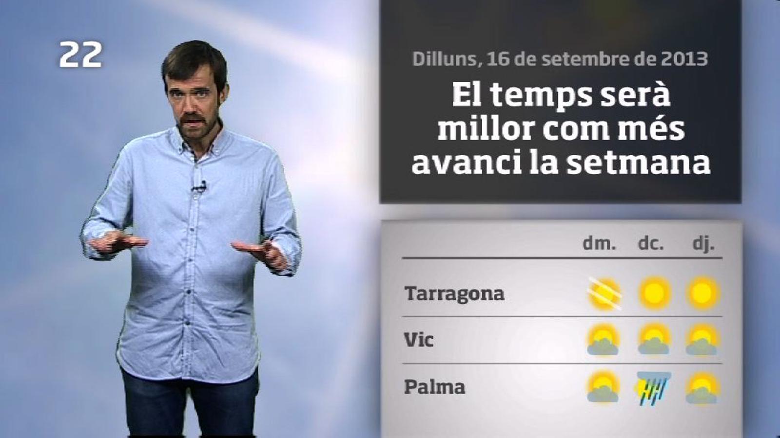 La méteo en 1 minut: dimarts insegur i fresc a l'est (17/09/2013)