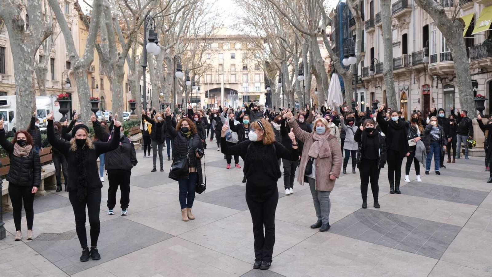 Participants en la manifestació