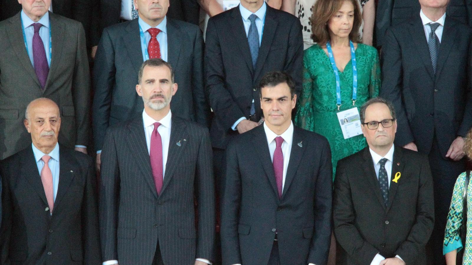 El cap de Govern, Toni Martí, durant la cerimònia d'inauguració dels jocs. / EFE