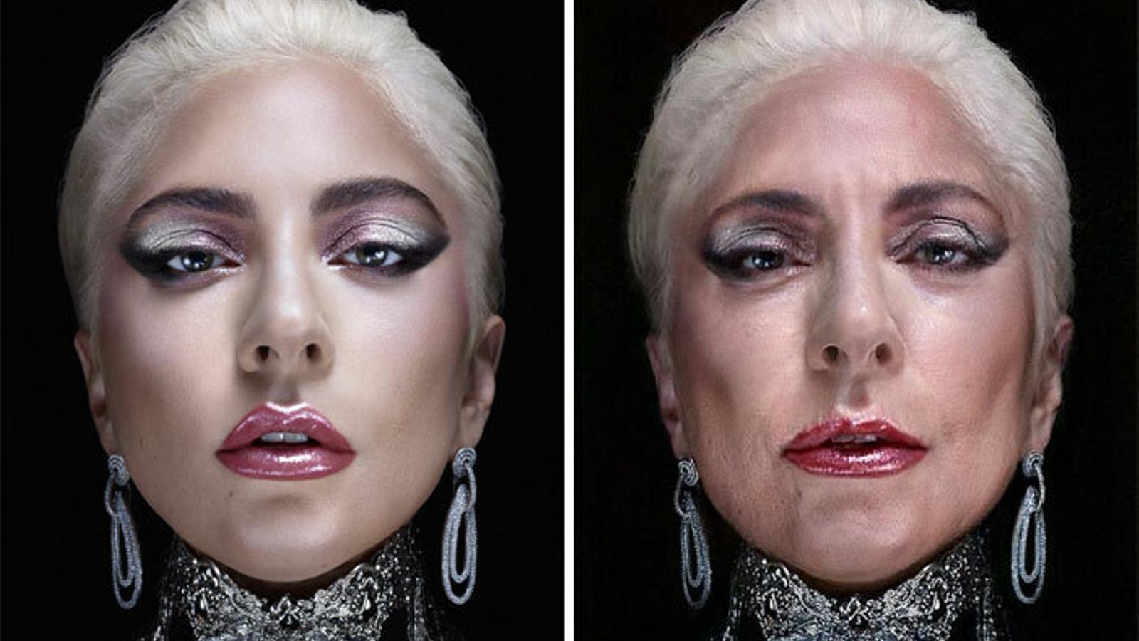 Lady Gaga, amb el filtre d'envelliment de FaceApp
