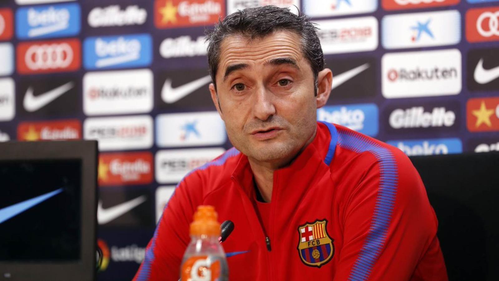 Valverde en roda de premsa