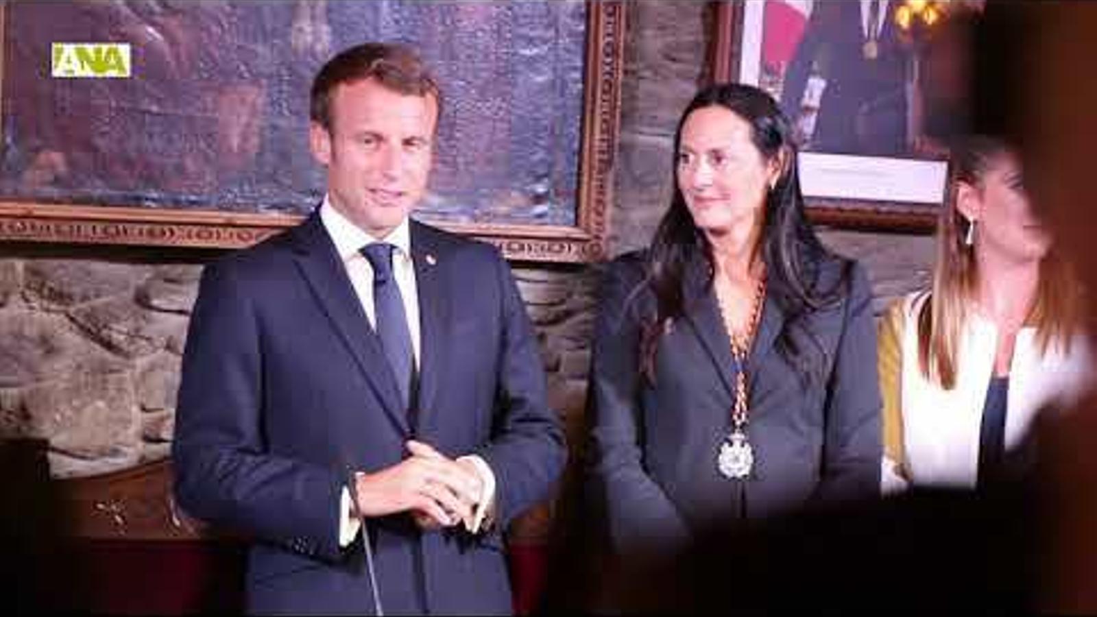 Així ha estat la visita que ha fet el copríncep Macron al Principat