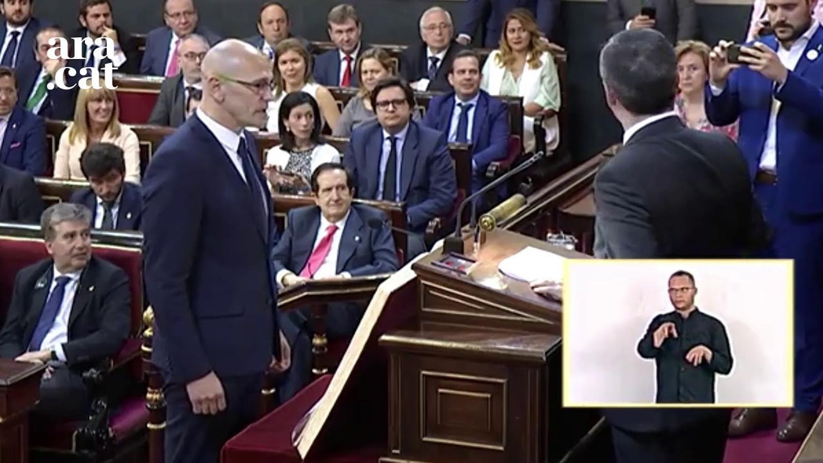 """""""Que es foti, el desgraciat"""": Hernando es vanta d'haver interromput l'acatament de Romeva"""