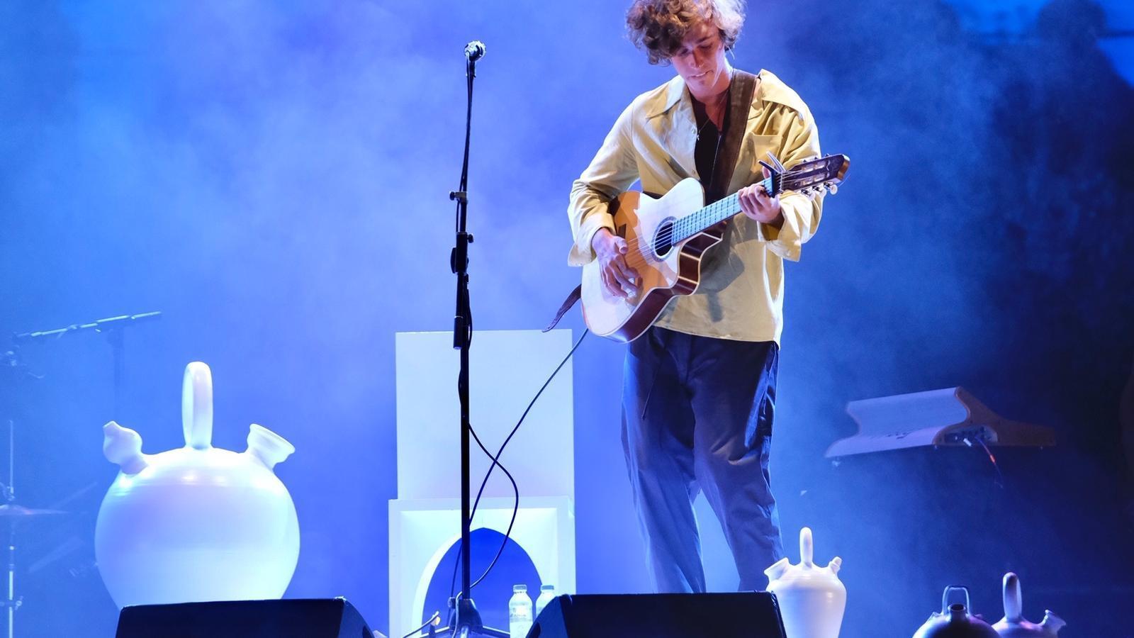 Guitarricadelafuente durant el concert al Fes Pedralbes.