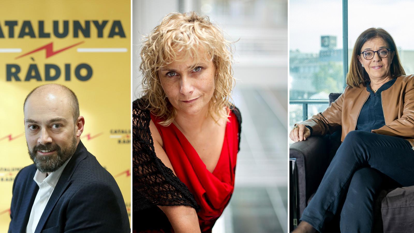Saül Gordillo, Mònica Terribas i Núria Llorach