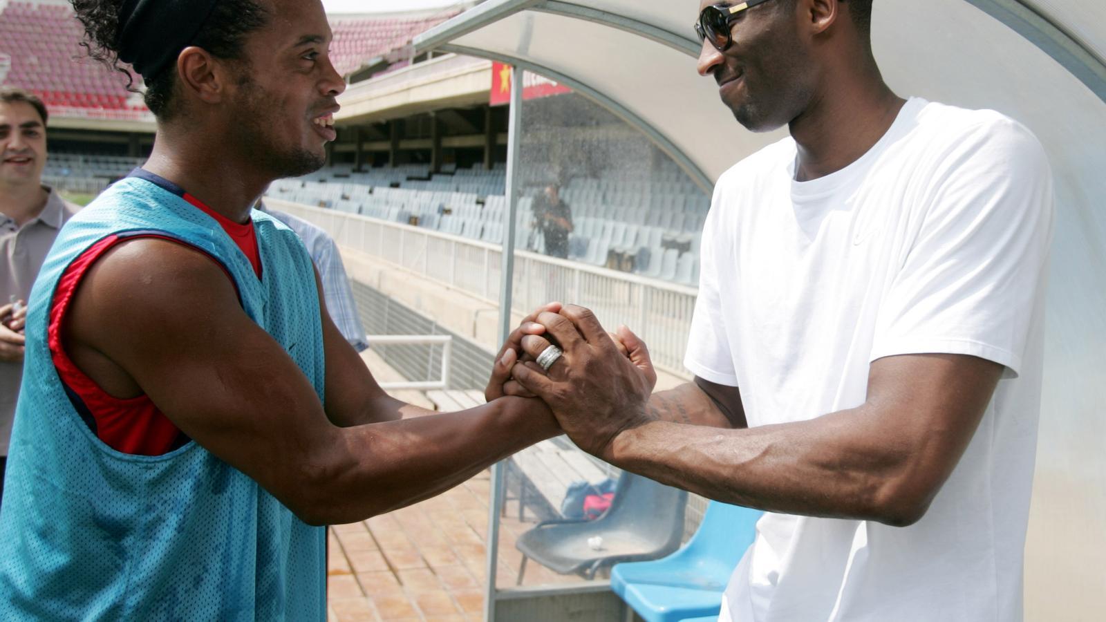 Ronaldinho i Kobe Bryant