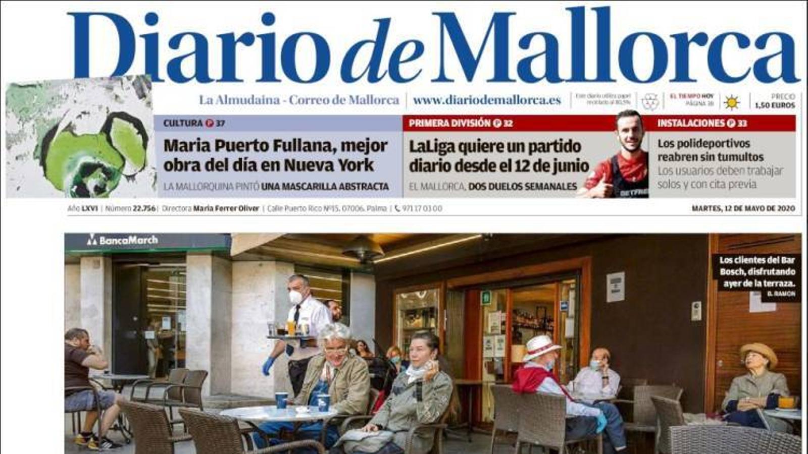 """""""Mallorca s'activa"""", portada de 'Diario de Mallorca'"""