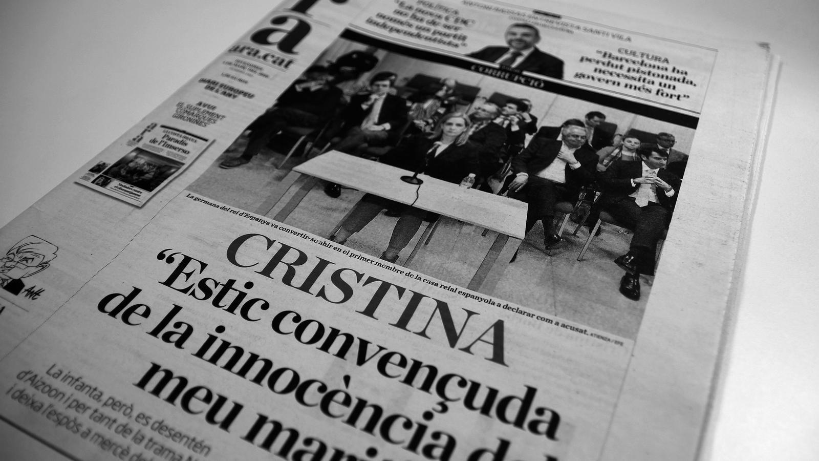 """L'editorial d'Antoni Bassas: """"La germana del rei declara com a acusada"""""""