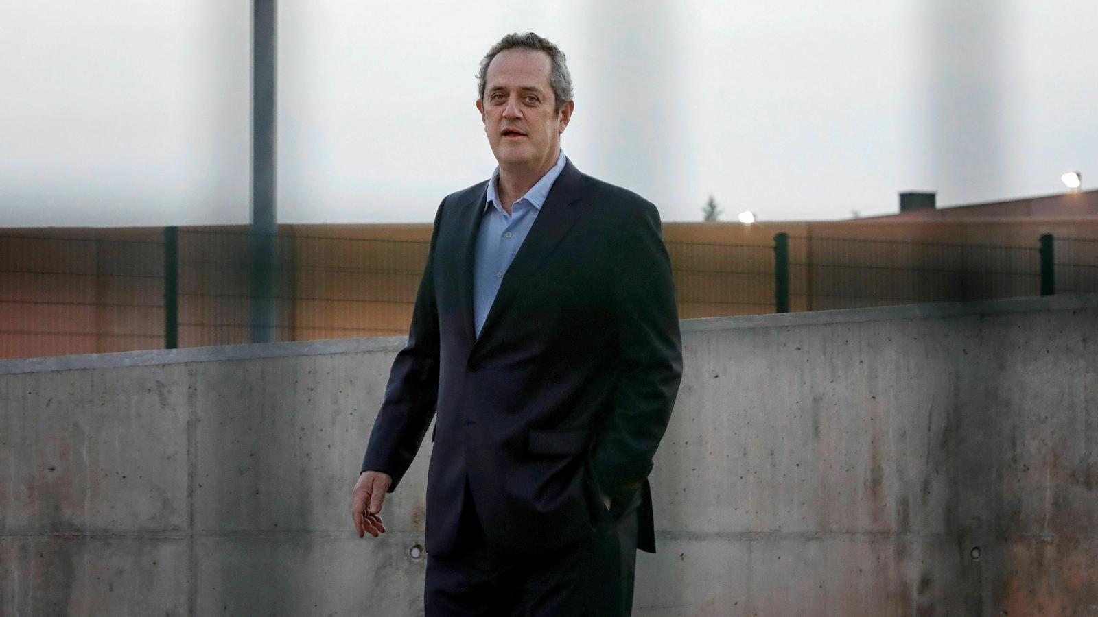 Joaquim Forn sortint de la presó de Lledoners