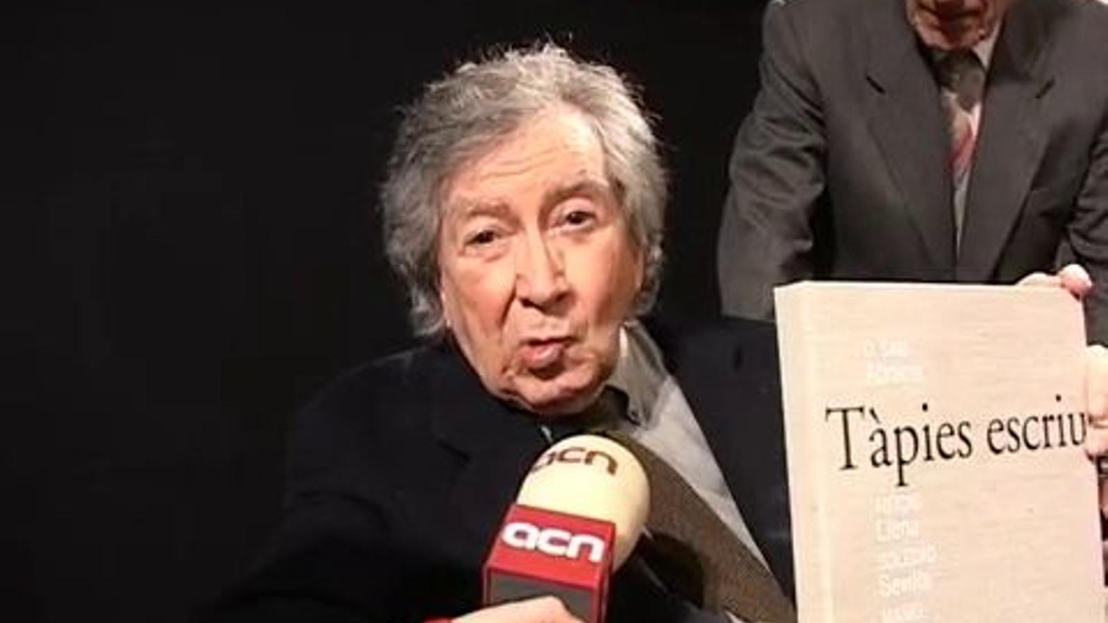 Antoni Tàpies, el 2008: Em sento més lliure que mai